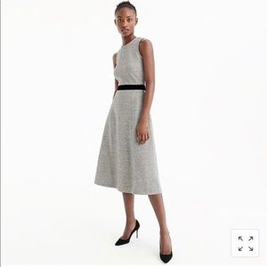 J.Crew Gray Velvet Tie Waist Midi Dress 00